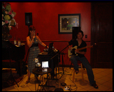 Janine and Pat, performing at POLO