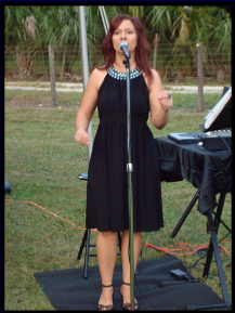 "Janine singing ""You Raise Me Up"" at a wedding, Nov '08."