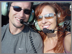 Pat & Janine in a helicopter ride to Mt. Rushmore in the Black Hills of S. Dakota.