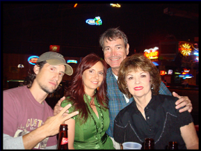 Pat, Janine, Tim, and Nancy: Janine performed at Joyland, late 2008
