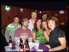 Janine & friends after a performance at Joyland, late 2008