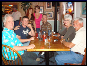 Bill, Jesse, Janine, Tanya, Tim & friends, at Pelican Pete's, early '09