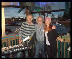 at Gatorz w/ EZ Street Band: Michael, my dad Fred, Janine. Early 2011.