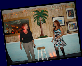 Tanya & Janine performing at Pelican Petes, 2009
