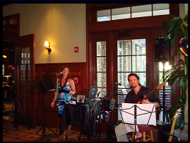 Janine and Pat performing at a private event at the Ritz Golf Club, 2008