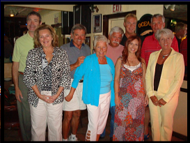 Tim, Molly, 3 friends, Janine, Tracy, Tom & Jackie: at Sharky's, early 2009