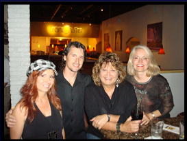 Janine, Pat, Anita, & friend, after a gig at Urban Flatts, 2009
