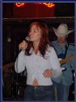 Janine performing at Tootsies in Nashville (Dec. 2004)